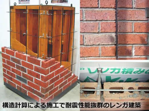 構造計算による施工で耐震性能抜群のレンガ建築